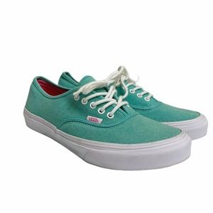 Vans Lace Up Womens Size 10 Green Skater Shoes
